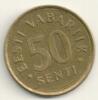 Eesti 50 Senti 1992 KM#24 - Estonia