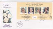 Papua New Guinea-1998 Princes Diana Souvenir Sheet FDC - Papua New Guinea