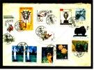 China Umschlag Mit 12 Sonder Briefmarken Ca. 1985 Gestempelt - 1949 - ... Repubblica Popolare