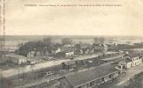 Ardennes- Vouziers -Crue De L'Aisne Du 20 Janvier 1910, Vue Prise De La Butte, La Gare Et Le Pont. - Vouziers