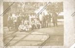 Photo Carte : Une équipe D'agents Militaires ? Sur Un Aiguillage Aire De Retournement De Tramway - Strassenbahnen