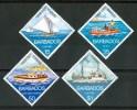 1974 Barbados Trasporti Transport  Barche Boats Bateaux Set MNH**B325 - Barbados (1966-...)