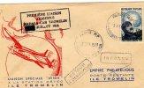 TAAF* îles éparses TROMELIN - Très Beau Pli 1ère Liaison Aérienne - Station Météo 31/07/1954 - Unclassified