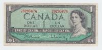 Canada 1 Dollar 1954 QEII VF P 74b 74 B - Canada