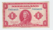 Netherlands 1 Gulden 1943 VF P 64 - [2] 1815-… : Kingdom Of The Netherlands