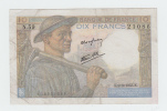 FRANCE 10 FRANCS 1943 VF+ P 99d 99 D - 1871-1952 Circulated During XXth