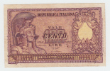 ITALY 100 Lire 1951 VF+ P 92b 92 B - [ 2] 1946-… : Republiek