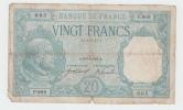 France 20 Francs 1916 VG RARE Banknote P 74 - 20 F 1916-1919 ''Bayard''
