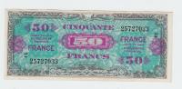 France 50 Francs 1944 VF++ Crispy Banknote P 122b 122 B (Block 2) - 1945 Verso France