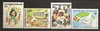 Togo 1981 N° 1064 / 5 + PA 465 / 6 ** Libération Nationale, Drapeau, Colombe, Paix, Président, Pipe, Piscine, Natation - Togo (1960-...)