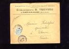 PORT  SUR  SAONE    -   B.  TRAYVOU   INSTRUMENTS  DE  PESAGE    1906     ENVELOPPE  A  EN  TÊTE   COMMERCIALE - Alimentaire