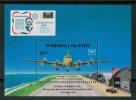 1986 Isole Marshall Trasporti Transport Aerei Aircraft Avions Block  MNH**B338 - Marshall