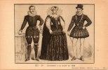 HISTOIRE-carte Pédagogique NATHAN-Costumes à La Mode En 1595-série XII N° 24 (299) *PRIX FIXE - Histoire