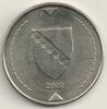 Bosnia Herzegovina 1 Konvertible Marka 2002 KM#118 - Bosnia Erzegovina