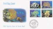 Papua New Guinea -1997 Pacific Year Of Coral Reef FDC - Papua New Guinea