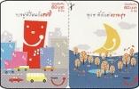Thailand  Phonecard  Happy DPrompt  Twincard Moon - Thaïland