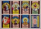 Souvenir Match Stickers . Full Set-  8items. - Stickers