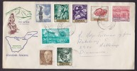 Spain Mult. Franked Souvenir - Tenerife 1970 Cover To HELLERUP Denmark Map Karte Cachet - 1931-Heute: 2. Rep. - ... Juan Carlos I