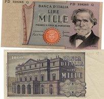 ITALY 1000 Lire 1969 XF VERDI LA SCALA OPERA THEATER MILAN - Italië