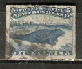 Newfoundland 1876-79  5c Rouletted  (o) - Newfoundland