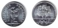 FRANCE, 5th Republic - 100 Francs 1989 HUMAN RIGHTS - KM#970BU - Commemoratives