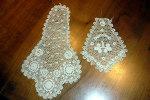 Deux Jolis Travaux Dentelles Anciennes - Laces & Cloth