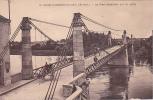 19805 Saint Florent Le Vieil - Le Pont Suspendu Sur La Loire . 19 Chapeau; Attelage ( Un Ane En Premier ? )
