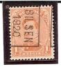 PREO ROULETTE N° 2485 - BILSEN 1920 - Pos. B - Precancels