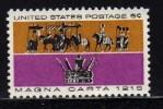 1965 USA Magna Carta Stamp Sc#1265 Procession Of Barons & King John's Crown Horse Flag - Storia