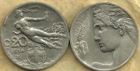 ITALY 20 CENTESIMI  WOMAN  FRONT  MAN HEAD BACK 1914 R KM?  READ DESCRIPTION CAREFULLY !!! - 1900-1946 : Vittorio Emanuele III & Umberto II