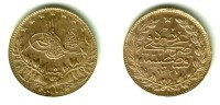 TURKEY, Muhammad V Al-Ghazi - 50 Kurush Gold AH 1327 Yr.8 (1916) - KM#775 Y#54Unc !! - Turkey