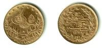 TURKEY, Muhammad V Al-Ghazi - 50 Kurush Gold AH 1327 Yr.9 (1917) - KM#775 Y#54Unc !! - Turkey