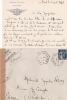 ENV  CAD PORTE AVIONS BEARN  CENSURE 1941 - Postmark Collection (Covers)
