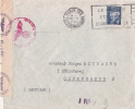 ENV  PARIS POUR LE DANEMARK 1943 CENSURE - Postmark Collection (Covers)