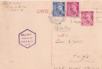 CP ENTIER MERCURE CENSURE PALESTINE 1940 - Postmark Collection (Covers)