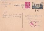 CP ENTIER  ARC DE TRIOMPHE POUR COPENHAGUE 1940 - Postmark Collection (Covers)
