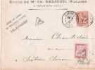 JURA CHAUSSIN ENV TAXEE 30 Ctmes 1902 - Postmark Collection (Covers)
