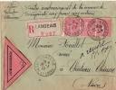 INDRE ET LOIRE LANGEAIS ENV REC  CONTRE RBST 1927 - Postmark Collection (Covers)