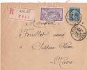 JURA ARLAY ENV REC  1924 - Postmark Collection (Covers)