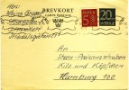 1959 Sweden Postal Stationary Card VF Used With Clear Stockholm CDS - Postal Stationery