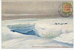 Greenland Fog Bank Ice Cap, Crevasse Dog Team Stamped Reykjavik 1908 Not  P. Used Tuck - Greenland