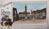 UN PENSIERO DE ROMA / PIAZZA COLONNA / CIRC 1917 - Roma