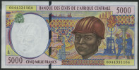 * CENTRAL AFRICAN STATES 5000 FRANCS 2000 P 404L F - Banknotes
