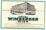 O-41   WIEN : Hotel Wimberger - Vienne