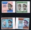 1965  King Hussein, De Gaulle, Lyndon B. Johnson  Imperf Set  Mi Nr 557-560  MNH ** - Jordan