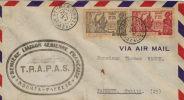 177/178    RARE Expo De New-York     T.R.A.P.A.S  Cachet D´arrivée PAPEETE           (class) - New Caledonia