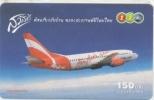 Thailand Prepaid Phonecard,air Asia,used - Avions