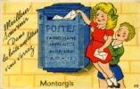 Cpa Système, Montargis, Boite Aux Lettres, Poste (le Dépliant Est Absent) - Montargis