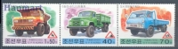 North Korea 2000 Mi Dre No.4368-4370b Cars Seafty - Automobili