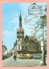 CPSM  - 59 - TOURCOING - PALAIS DE LA BOURSE AVEC BEFFROI  / TRIO DE CITROEN 2 CV - EMISSION PHILATELIQUE 1968 - - Roubaix
